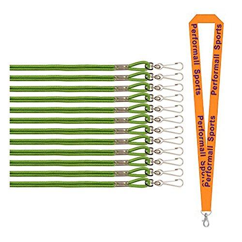 Champion Sports Nylon Lanyard Green 24-Pack Bundle