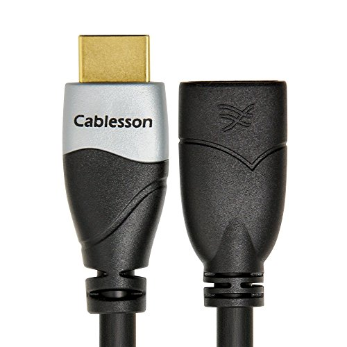 Cablesson Ivuna 0.5m HDMI Cavo prolunga ? 24K Placcato Oro ? 1080p Fino a 4K2K ? Versione 1.4/2.0 ? Audio e Video ? 3D Full HD UHD ? Maschio a Femmina (HD LCD Plasma TV PS4 Sky Xbox Wii U Blu-Ray)