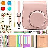 Katia Instant Camera Accessories Bundle Compatible with Fujifilm Mini 11 Instant Film Camera. Includes Camera Case, Album, Frame, Stickers, Strap,etc - Blush Pink