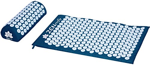 Zensufu Back and Neck Pain Relief Acupressure Mat and Pillow Set - Relieves Stress, Sciatic, Neck...
