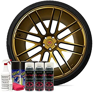 DipYourCar Popular Wheel Kit - Pure Gold Alloy