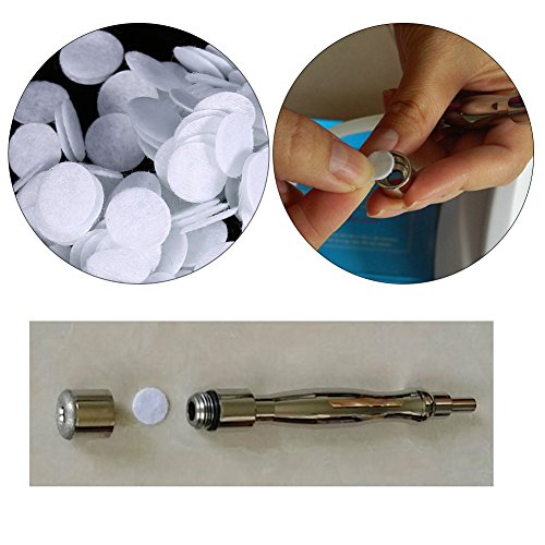 100 filtros de algodón, 7 diámetros diferentes para diferentes tipos de máquinas de belleza, máquina de dermoabrasión de diamante