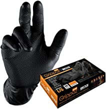 Bob Dale 30-9-373B Premium Split Leather Pile Lined Fitter Glove Size 1 Black//Gold
