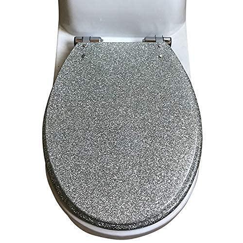 Tapa de Inodoro-Asiento de Inodoro Asiento de Inodoro Resina Mute Cubierta de Asiento de Inodoro más Gruesa Universal para Inodoro Tipo U