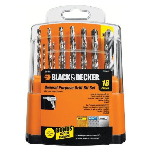 BLACK+DECKER Drill Bit Set, 18-Piece (71931)