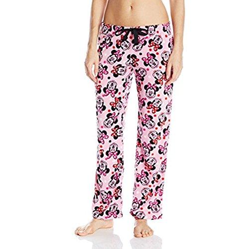 Disney Pantalón de forro polar para mujer de Minnie Mouse - rosa - XL