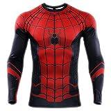 HOOLAZA Avengers Super Heroes Hombres Camiseta Manga Larga de compresión 2019 Spiderman Tops XL
