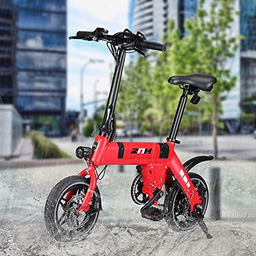 ZNH Electric Bike for Adults, 12'' Mini Small Adult Electric Bike,...