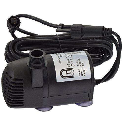 Preisvergleich Produktbild Agora-Tec® Ersatzpumpe Solar Teichpumpen-Set AT-20W-BL und AT-20W-BLH inkl. zusätzliche Buchse für LED Beleuchtung