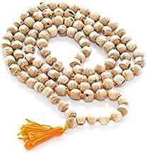 Style Ok Krishna krpa Style OK White Tulsi Japa Mala 108 + 1 Beads Prayer Beads