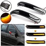 Mkptopia 2 uds Intermitente dinámico, señal de giro LED, luz de espejo, lámpara de repetición lateral, accesorios de coche para Mercedes Benz A B Clase W169 2008-2012, W245 2008-2011