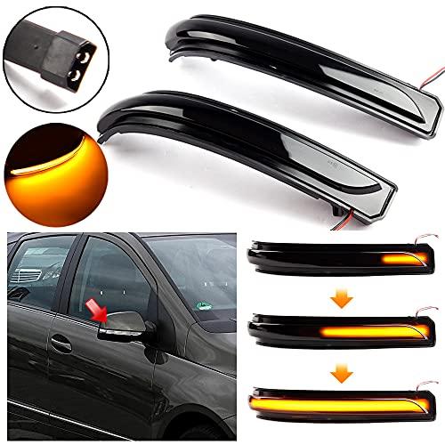 Mkptopia 2 indicatori di direzione dinamici a LED, luce per specchietto retrovisore, accessori per auto per Mercedes Benz A B Classe W169 2008-2012, W245 2008-2011