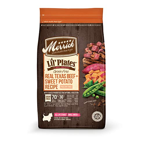 Merrick Lil Plates Grain Free Small Breed Recipe, 12-Pound, Beef