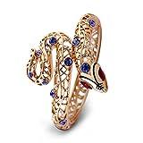 Viennois Bracelet sexy motif serpent avec cristaux violets,