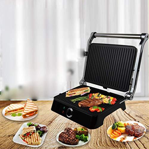LXTIN Sandwich Toaster, Panini Pressen, Antihaft Panini Sandwich Maschine Frühstück Grillwurst Machen Sie Burger Toast Steak Maschine