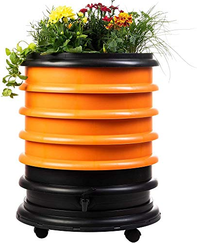 Purchase WormBox WB41OR Wormery Composter 4 Orange Plus Planter-72 litres, 4 Trays + Planter