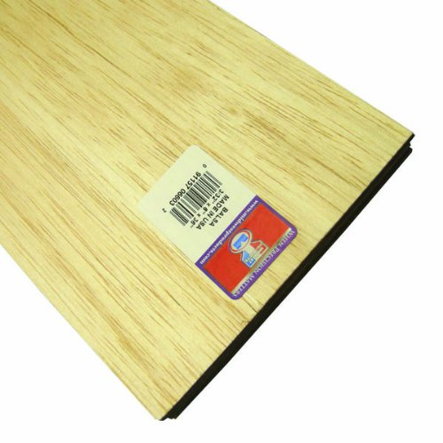 Balsa Wood Sheet 36-1//8X3 20 per Pack Midwest Products Co Multicolor