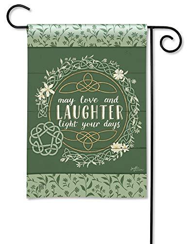 BreezeArt Studio M Celtic Blessing Decorative Irish St. Patrick's Day Garden Flag – Premium Quality, 12.5 x 18 Inches