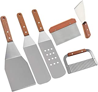 Thinktoo Professional BBQ Griddle Accessories Kit Heavy Duty Stainless Steel 6PC Set