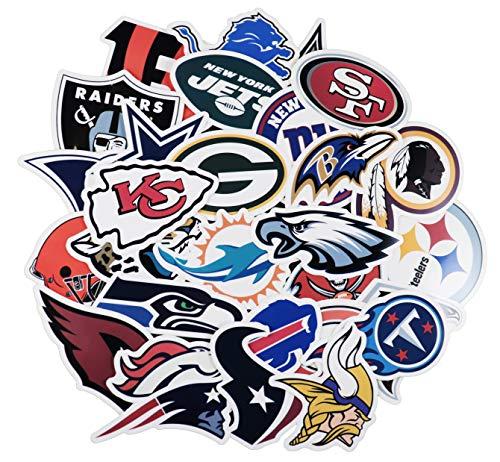 43 Stück Fußball-NFL-Team-Aufkleber, kreative DIY-Aufkleber, lustig, dekorativ, Cartoon, PC, Gepäck, Computer, Notebook, Telefon, Zuhause, Wand, Garten, Fenster, Snowboard
