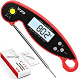 Habor Digital Meat Thermometer Upgraded Waterproof, 3s Instant Read Digital Cooking Thermometer,...