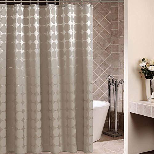OSVINO Duschvorhang wasserdicht waschbar 100prozent Polyester für Haus Hotel, 180cm x 200cm(B x H) Beige R&