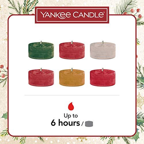 Yankee Candle confezione regalo | Candele profumate natalizie | 18 candele tea light e 1 porta candela tea light | Collezione Magical Christmas Morning