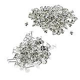 100Stück Metall Kupplung Ohrringe Sicherheit Rücken und blanko Ohrringe, Pin Nieten für...