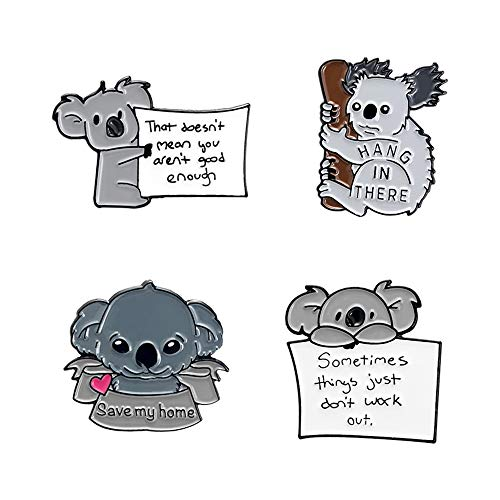 FULAISI Cute Koala brooches, Badges for Clothes Jackets Backpack Brooch for Clothes Collar caps Clothes Charms brooches Decoration.