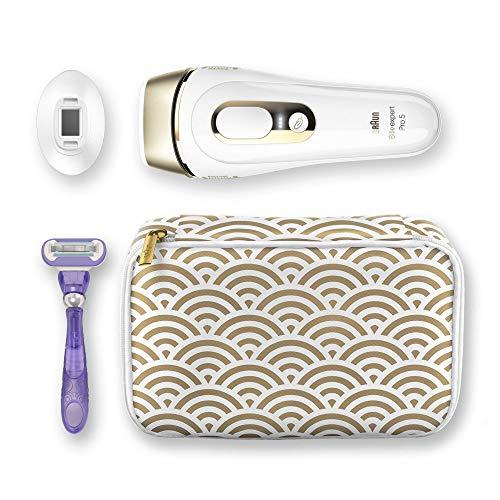 Braun Silk-Expert Pro 5 PL5137 IPL Haarentfernungsgerät für dauerhaft sichtbare Haarentfernung, für Körper und Gesicht, Präzisionsaufsatz für empfindlichere Bereiche, 400.000 Lichtimpulse, weiß/gold - 5