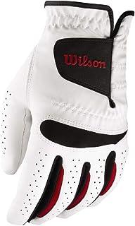 Wilson Feel Plus Right-Hand Golf Glove, Men, White, Large