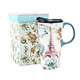 17 oz. Ceramic Travel Mugs and Coffee Cup with Sealed Lid and Color Box