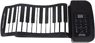 Dulcii ロールピアノ 61鍵盤/88 鍵盤 ロールアップピアノ ハンドロール 鍵盤 電子ピアノ 巻ける 折りたたみ シリコン 誕生日 プレゼント 子供 女の子 男の子 知育玩具 140種類音色トーンデモソング 128種類のリズム 標準ピア...