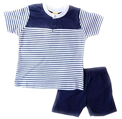 SHLOK'S Boys 100% Cotton T-Shirt and Shorts Set