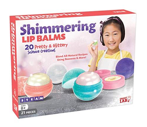 SmartLab Toys Shimmering Lip Balm - 21Piece - 20 Recipes - 5 Lip Balm Pods, 11 1/4