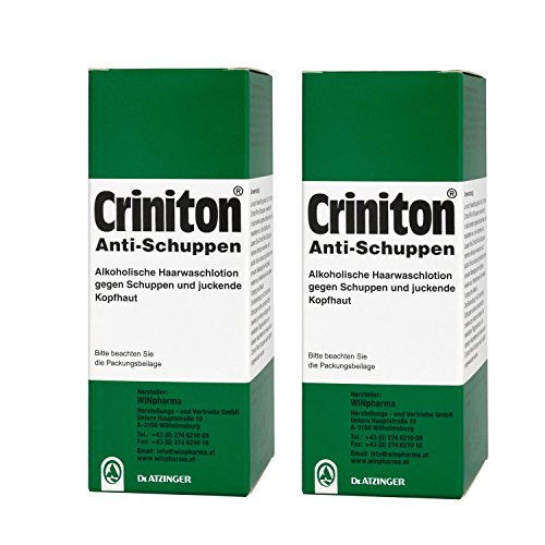 2 Stück Criniton Anti-Schuppen 125ml- Haarwaschlotion gegen Schuppen und juckende Kopfhaut