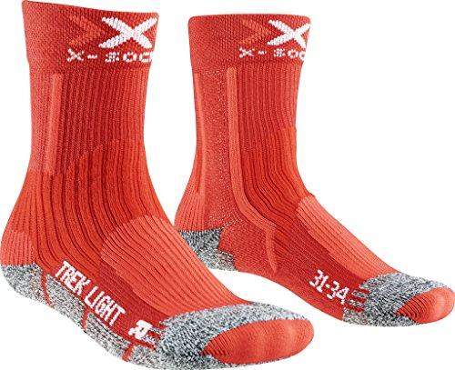 X-Socks Kinder Trekking Light JUNIOR 2.0 Socken, Red, 31/34