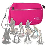 DURAGADGET Hot Pink 8' Neoprene Carry Case with Front Storage Compartment - Compatible with The Disney Infinity Star Wars Figures