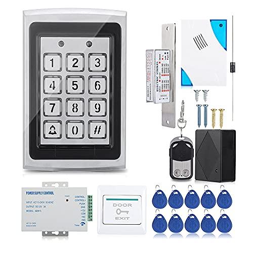 Cerradura Electrónica, Rfid Cerradura de Teclado Biométrico para Entrada de Puerta, Kit de Sistema de Control de Acceso