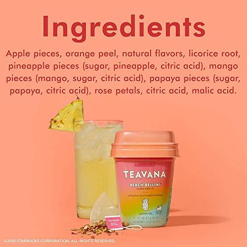 Teavana Herbal Tea, 12 Sachets (Beach Bellini, Pack - 2)