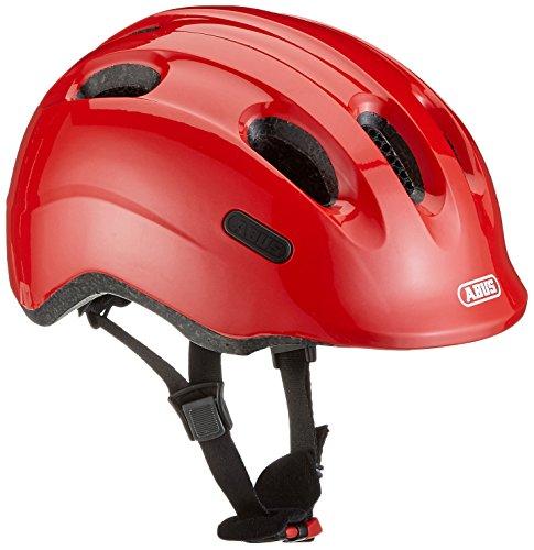 ABUS Smiley 2.0 Kinderhelm - Robuster Fahrradhelm für Mädchen und Jungs - 72581 - Rot (funkelnd), Größe M