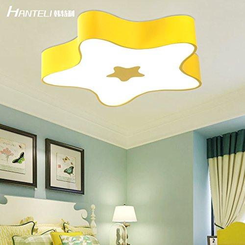 owow simple moderne salle pour enfants merveilleux et refroidir avec LED à couleurs Cartoon Starfish plafonnier pour les garçons ou filles séjour Décoration plein d'imagination