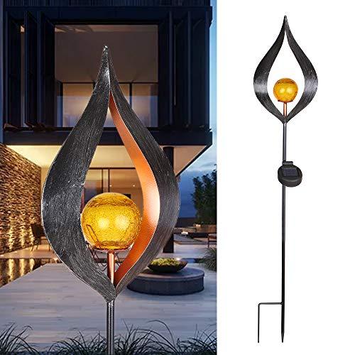 STHfficial Solar LED simuleren vlam licht gazon lantaarn lamp Outdoor Solar tuinverlichting voor oprit gazon weg waterdichte LED landschap lamp D