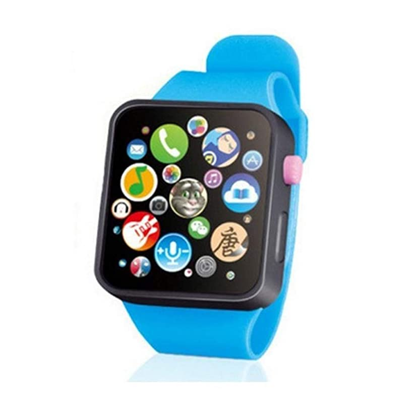 TOYANDONA Kids Early Education Smart Watch Learning Machine Wristwatch Toy (Blue)