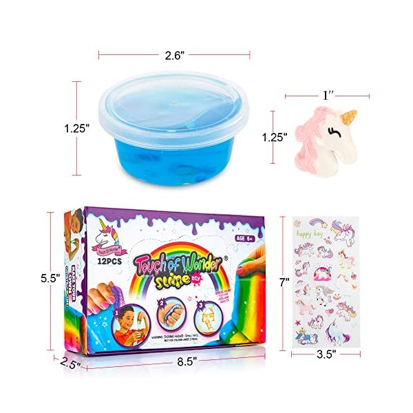 Unicorn Slime Kit for Girls Boys. 12 Slime, 12 Unicorn Charms & Unicorn Stickers. Super Soft, Fluffy & Stretchy. Unicorn… 7