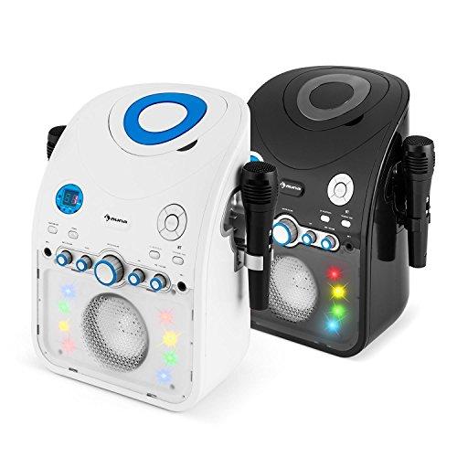 auna StarMaker BK • Kinder Karaoke Anlage • Karaoke Player • Karaoke Set • 2 x dynamische Kabel-Mikrofone • Bluetooth • integrierter Lautsprecher • CD+G-Player • Top Loading • Echo Effekt • A.V.C. Funktion • Video-Ausgang • USB-Port • LED Lichteffekte • schwarz - 7