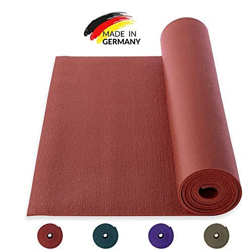 Yogibato Yogamatte Studio PVC Ökotex 100 – Made in Germany – rutschfest & Schadstofffrei – Matte für Gymnastik Pilates Sport Fitness – Yoga Mat – [183x60x0,45cm] – Bordeaux