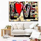 Bpieft Rompecabezas para Niños Adultos Frases de Amor de Graffiti Jigsaw Puzzle 1000 Piezas, Descompresión Divertido Juego Familiar, Decoración para El Hogar Regalos 50x75cm