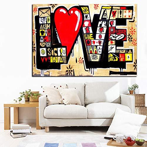 Puzzle 1000 Piezas para Adultos De Madera Niño Frases de Amor de Graffiti Juego Casual De Arte DIY Juguetes Regalo Interesantes Amigo Familiar Adecuado 50x75cm