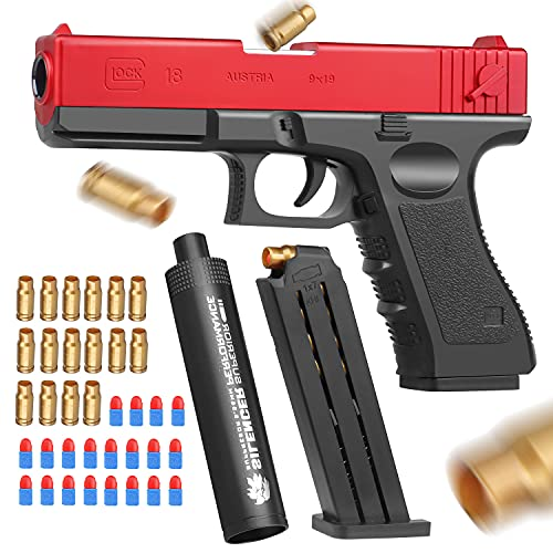 Toy Gun with Jump Ejectinging Magazine, Soft Bullets & Pull Back...